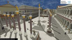 Rome Reborn: Take a virtual reality tour of Ancient Rome Ancient Rome, Ancient History, Arch Of Constantine, Roman Forum, Roman History, Roman Empire, Alter, Virtual Reality, Animation