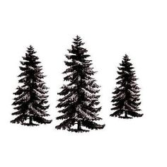 PINE TREE set 3 unmounted rubber stamps No19 by sweetgrasstamps, $8.00