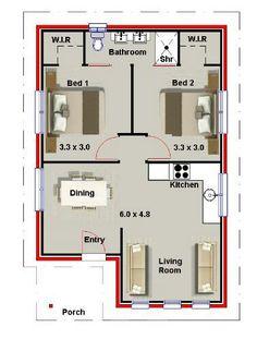 Casa pequena moderna 2 quartos