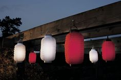 Pack Of 6 Solar Powered Party Lanterns
