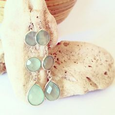 Beach wedding jewelry beach bride earrings beach by AinaKai, $78.00