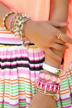 Spring stripes & stacks... brb about to go spend my entire paycheck at charming charlies.