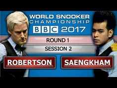 Neil Robertson v Noppon Saengkham ᴴᴰ World Snooker Championship 2017 Session 2 - YouTube