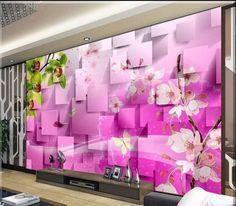 Wandbild tapete dynamische Phantasie blumen wandbild wand papier wand aufkleber