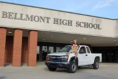 my friend shelby did this one. normally i like senior portraits to be more up close, but i love the composition of this. Guy, Truck, School... sums up highschool for most guys