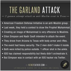 2 ISIS sympathizers were shot and killed by police when they tried to attack an anti-Muslim event in Garland, Texas.