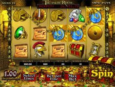 Play the Treasure Room video slot game for free at 1OnlineCasino.com