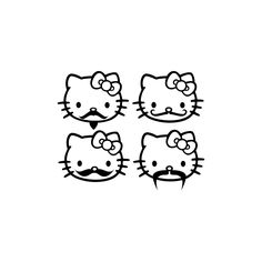 Mustached Hello Kitty