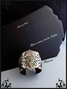 Bijoux créateurs bracelet manchette. L' alpha.