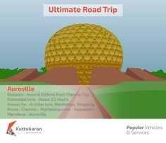 Ultimate Road Trip - Auroville #RoadTrip #Architecture #Meditation