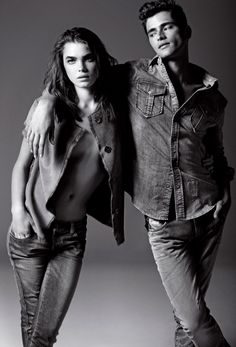 Sean O'Pry & Bambi Northwood Blyth for Armani Jeans