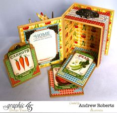 Gorgeous Farm Fresh ATC Book Box by Andrew using Home Sweet Home #graphic45