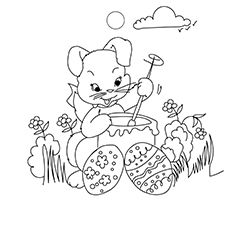 Print Coloring Image Bunny PagesPage OnlineEaster
