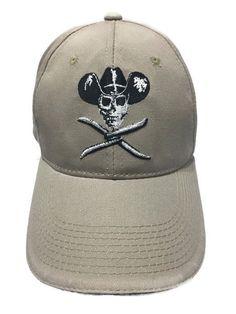 Twisted X Boots Cowboy Skull   Barbwire Baseball Hat Cap Tan Adjustable f05e2ee9b40e