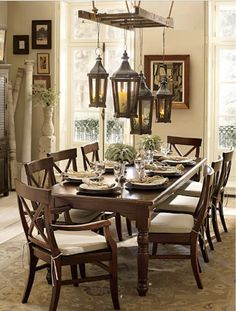 In your dining room I. Multitasking ideas for your old ladder. (Loving all these recycling ideas)