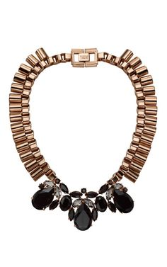 Shop Mawi Teardrop Crystal and Tube Necklace at Moda Operandi