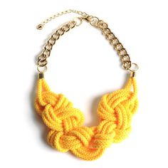 Rise And Shine Necklace Yellow, $150, now featured on Fab. via @Knotty Gal  use code KNOTTYERIKA10 for 10% off at www.knottygal.com