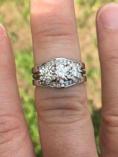 3.15Ct Pear Cut VVS1 Diamond Engagement Bridal Ring Set 14k Two Tone Gold Finish