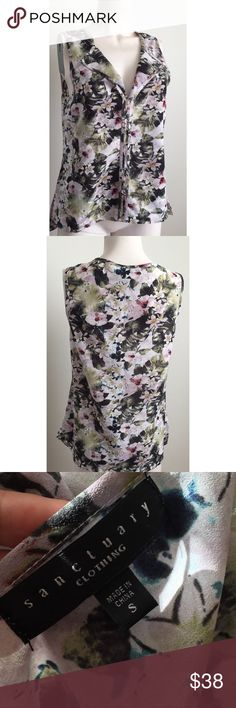 Sanctuary Floral Top Gorgeous floral top by Sanctuary. All over multi colored floral design. Made of polyester. Size small. #11301716 Sanctuary Tops