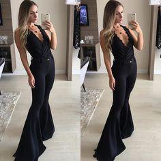 WEBSTA @boutique_dujour {  PREVIEW OUT/ INV } Sem palavras pra esse look! Calça maxi flare perfeita   Body renda = All Black que a gente ama!|| ✨Preços e infos por WhatsApp (11)97604-6767 ou direct ✨||