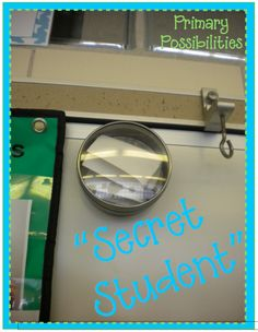 Primary Possibilities: Positive Behavior Rewards  SECRET STUDENT--so much fun, Love this idea!