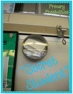 Primary Possibilities: Positive Behavior Rewards SECRET STUDENT--so much fun, Love this idea!