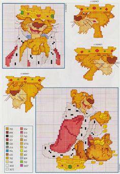 Punto croce - Schemi e Ricami gratuiti: Raccolta di schemi a punto croce a tema cartoni animati Disney