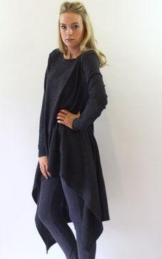 Hazel Grey Hi Lo Jumper Dress - SilkFred