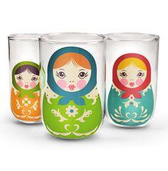 glasses  #matriochkas #home #homedecor #decoration #tableware #glassware