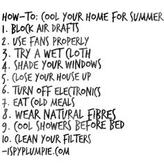 Cool your home for summer - Tips & How To Guide!