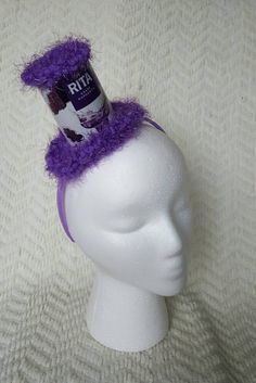69e9dc10eaa Grape A Rita Handmade Crochet Beer Can Mini Top Hat by GiftedAcorn on Etsy  Headbands