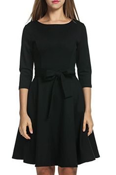 HOTOUCH 1950s Bow Belt Vintage Party Swing Dresses (Black... https://www.amazon.com/dp/B01LWOTR0B/ref=cm_sw_r_pi_dp_x_hHxhzbQ81BP0R