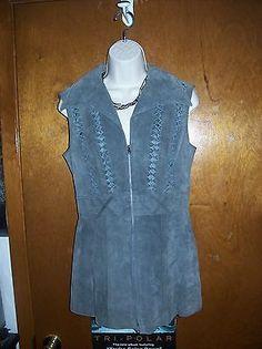 Shayne Leather Vest Size 10
