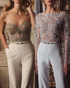 Bridal jumpsuit: 1 or Fashion Beauty, Girl Fashion, Luxury Fashion, Fashion Dresses, Womens Fashion, Style Fashion, Classy Outfits, Chic Outfits, Evening Dresses