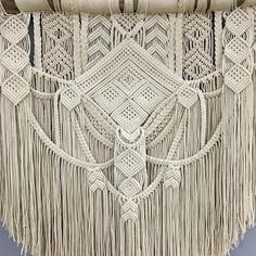 **This piece has sold** If you purchase this listing, you are placing a custom order for a replica. Please keep in mind that your end product might differ slightly from the images above. Size is approximately: Driftwood: 100 cm (39) Macrame length: 90 cm (35) Material: Cotton rope,