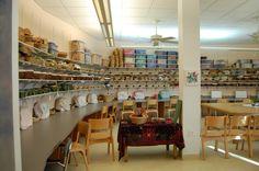 handwork room via blogger