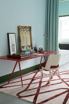 Farrah Ruby by Nicole Fuller #rug #therugcompany #interiordesign #handmade #nicolefuller