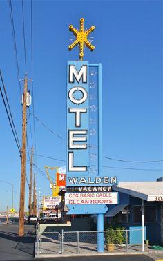 Daily Neon: Walden Motel on Boulder Highway