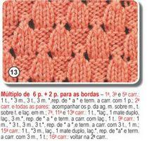 SANDRA PONTOS DE CROCHÊ E TRICÔ...........: Pontos de Trico