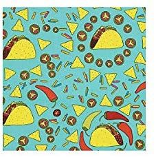 Amazon Com Alexander Henry S Taco Rico Fabric Turquoise Fabric