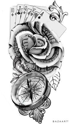 Tattoos Discover Pin by Chris Loom on Tattoo vorlagen Skull Thigh Tattoos Forarm Tattoos Full Arm Tattoos Forearm Sleeve Tattoos Dope Tattoos Tattoos For Guys Tattoos Girl Tattoos Body Tattoo Design Card Tattoo Designs, Clock Tattoo Design, Half Sleeve Tattoos Designs, Forearm Tattoo Design, Tattoo Design Drawings, Small Tattoo Designs, Tattoo Designs Men, Tattoo Ideas, Tattoo Sketches