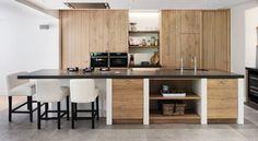 houten keuken moderne stijl