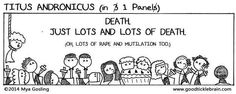 Titus Andronicus in 1 Panel - Do You Want To See All Of Shakespeare's Plays In Three Panel Comics
