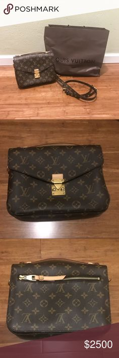 [Louis Vuitton] 🆕 Pochette Metis Monogram 🆕 NEW Pochette Metis Monogram Louis Vuitton   Never been used bag. 100% Authentic. Dimensions of the bag are also shown in the pictures. Comes with bag and strap only. Louis Vuitton Bags Crossbody Bags
