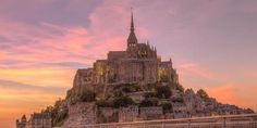Considered one of the wonders of the Western World, Mont St-Michel is a medieval fortress in France, sitting on top a rocky island in the ocean.  Floating like a mirage on the horizon, this sacre