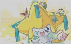 Pokemon Jirachi Cross Stitch Pattern(75 Colors)