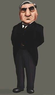 Downton Caricatures Mr Carson
