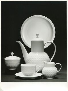 Heinrich Löffelhardt, Coffee set for Arzberg Company, 1965. Germany. Photography: Willi Moegle. Via Finest Vintage Photogra...