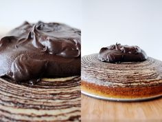 girl who bakes: slimmed down zebra cake with chocolate frosting (a reader request!)