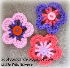 Little Wildflowers Tutorial  ༺✿Teresa Restegui http://www.pinterest.com/teretegui/✿༻